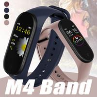 niños relojes deportivos a prueba de agua al por mayor-Monitor de presión deporte inteligente Band pulsera M4 sangre impermeable inteligente pulsera de reloj del perseguidor de la aptitud SmartBand PK mi banda 3 4