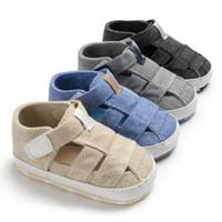 baby sandalen großhandel-Sommer Baby Mädchen Jungen Erste Wanderer Säugling Kinder Sandalen Rutschfeste Krippe Schuhe Weiche Sohle Prewalkers Nette Schuhe