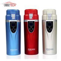 Wholesale 12v car mug resale online - 12V V ML Portable New Car Auto Heating Cup Adjustable Temperature Car Boiling Electric Mug