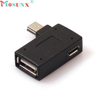 Wholesale mini tablet cell phones online – ecosin2 New Arrival pc Mini USB OTG Host Adapter with USB Power for Cell Phone Tablet JUL mar23