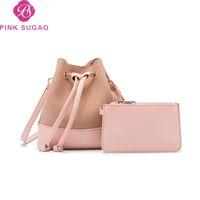 Wholesale dot string online - Pink sugao designer luxury handbags purses women shoulder bags bucket bag for lady mini new fashion crossbody bags messenger bag wholesales
