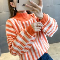Wholesale f clothes resale online - 9418 to film the new women s clothing with thick stripe sweater f row shelves