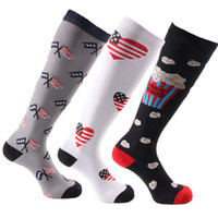 reise socken männer groihandel-Männer Frauen Kompressionssocken Unisex Travel Anti-Fatigue Kniestrümpfe Fußball Laufen Jogging Sport Lange Socken Fitness Strümpfe