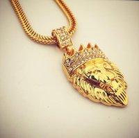 chaîne à main en strass achat en gros de-En acier inoxydable glacé sur les chaînes mains pendentif mens hip hop bijoux Bling strass cristal pendentif doré collier chaîne cubaine