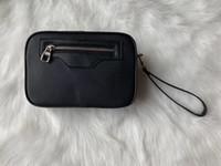 bolso cosmético cuadrado pequeño al por mayor-Alta calidad del diseñador Marca del bolso de embrague de los hombres y mujeres de personalidad Carta costura cuadrado pequeño bolso femenino del bolso cosmético