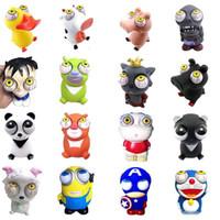 estresse venda por atacado-Espremer Pop Out Olhos Antistress Dos Desenhos Animados Animal Stress Relief Panda Modelo descompressão brinquedo Panda Pop Out Animais Squeeze brinquedos infantis