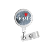 ingrosso titolare del distintivo sorriso-Bobina del distintivo Insirational Citazione retrattile Badge Holder Sorriso clip Rn Id dentistico Dental Office Nursing Student Cuore regalo