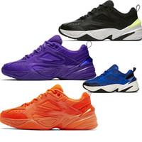 Wholesale shoes grape resale online - 2019 latest Cheap Men women Running Shoes Mens Triple Volt M2k Shoes Sport Sneakers Trainer Tekno Zoom K Hyper Grape Race Blue Designer Old