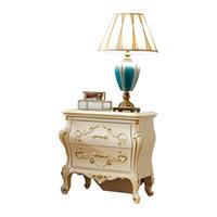 meuble chambre à coucher blanche achat en gros de-Table de chevet blanche en bois