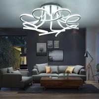 blumendecke großhandel-Moderne Led Deckenleuchten Kunst Blume Lampe Led Deckenleuchter Für Wohnzimmer Arbeitszimmer Schlafzimmer Dekoration Kronleuchter lampe