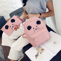 Wholesale mouse backpack resale online - Angel2019 And Child Twinset Mother Both Shoulders Package Cartoon The Little Mouse Ears Student Backpack A Bag