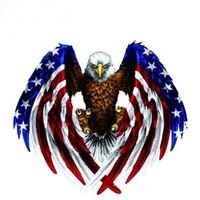 decalques de camião venda por atacado-Decalque do carro Voador Falcão Auto Truck Hood Side Águia EUA Bandeira Etiqueta Águia american flag sticker Moda # XP