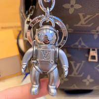 doğum günü kolyeleri toptan satış-Lüks anahtarlık Tasarımcı Moda Ünlü Lüks Astronot kolye Araba Anahtarlık Kadın Çantası Çekicilik Kolye Aksesuarları Doğum Günü Hediyesi Anahtar Tutucu