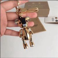 paslanmaz çelik anahtarlık zincir toptan satış-Yüksek qualtiy Paslanmaz Çelik Anahtarlık Anahtarlık Anahtarlık Tutucu Marka anahtarlık ayı Tasarımcı Erkekler Kadınlar Hediyelik Eşya Araba Çanta Anahtarlık amie02a