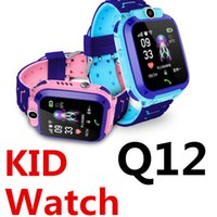 Wholesale best remote camera for sale – best Q12 Smart Watch Children LBS Waterproof Baby Watch On Wrist Outdoor Kid Remote Control Camera SIM Dial Answer Call QQ WeChat Best Gift KIDS