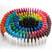 ingrosso domino giocattolo-FlyingTown 2cm 120 pezzi di domino pezzi di mattoncini base di legno per bambini giocattoli educativi per bambini regalo di compleanno all'ingrosso