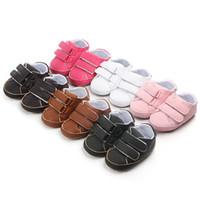 резиновые сапоги оптовых-BK Baby Shoes Pu Leather Infant Boys Girl Prewalker Shoe Newborn Boy Girl Solid Crib Shoes Toddler Unisex Rubber Anti-slip Shoe