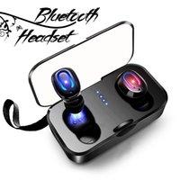 unsichtbarer drahtloser kopfhörerkopfhörer großhandel-T18S TWS Invisible Bluetooth Kopfhörer Ohrhörer Wireless Earbuds Stereo Deep Bass Headset mit Ladekasten Kopfhörer für iPhone Android
