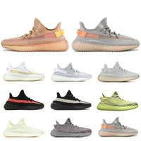 sıcak atletizm toptan satış-Sıcak Satış Ucuz Kanye West Koşu Ayakkabıları V2 Susam Sarı Zebra Tereyağı Krem Beyaz Siyah Kanye West Tasarımcı Atletik Spor Sneakers