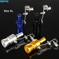 Wholesale blow off simulator for sale - Group buy 1PC Size XL Universal Motorcycle Car Turbo Sound Whistle Simulator Exhaust Muffler Pipe Blow off Vale for over displacement
