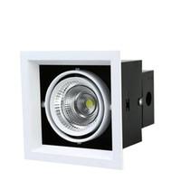 ingrosso luce quadrata del soffitto-Faretto quadrato luminoso da incasso a 2 teste LED dimmerabile quadrato da incasso COB 10W 20W Faretto a LED a luce spot Lampada da soffitto