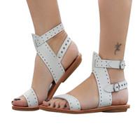 Beach Sandals Fashion Ladies Woman Shoes New Summer Gladiator Roman Shoes Flat Thong Sandals Footwear Plus Size 35 43