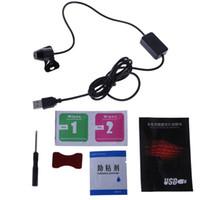 foco musical venda por atacado-Carro atmosfera ambiente Star Light DJ colorido da música Som da lâmpada Controle Remoto Spotlight Voice Control LED Luz USB Plug