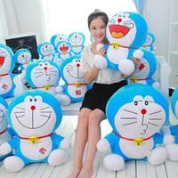 boneca gato doraemon venda por atacado-brinquedos de pelúcia Duo um brinquedo boneca sonho do jingle Doraemon cat 35 centímetros Stuffed Totoro For Kids Brinquedos dos desenhos animados Figura Almofada bonecas Brinquedos presente de aniversário