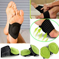 ingrosso cuscini del piede-Uomini Donne sottopiede di cura di piede di massaggio del piede del sottopiede di sostegno di arco fascite plantare I piedi dell'ammortizzatore del tallone del tallone Caduti Pain Gel Anti-Fatigue Soletta