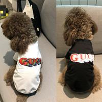 kedi mektupları toptan satış-Moda Giysileri Teddy Mücadele Popüler Harfler Logo Kedi Giysileri Köpek Giyim Yaz Kıyafet Pet Kısa Kollu T-Shirt Yelek Ince Tarzı