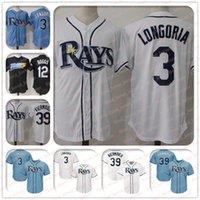 ingrosso vendita delle baia-3 Evan Longoria Jersey 39 Kevin Kiermaier Jersey 12 Wade Boggs Tampa Bay maglie Rays Coolbase Jersey vendita calda