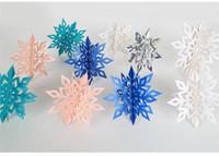 neujahrsblume großhandel-Weihnachtskarton stereoskopische Schneeflocken 6 passt Neujahr Party Dekoration Blumen hängen nach Hause dekorative bunte Ausstattung 6 5my D1