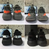 Wholesale children toe shoes online - High Quality Kids Children Youth Cream All White Infant Bred Beluga Black Red toddlers Kany West Running Shoes Sport Sneakers