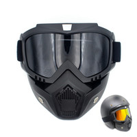 Wholesale goggles for open face helmet resale online - Anti fog Modular Mask Flexible Goggles Glasses Filter Anti Fog Dust Sand Wind for Motorcycle Open Face Half or Vintage Helmets
