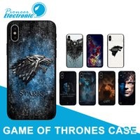 housse de neige iphone achat en gros de-Jeu Thrones Coque Daenerys Silicone Couverture Arrière Dragon Jon Snow lannister Coloré pour iPhone 8 7 6 6 S Plus X XS max SE XR
