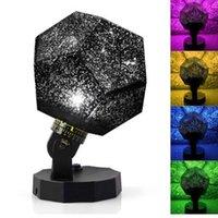 diy lamp stars toptan satış-Yıldız usta projektör LED gece lambası 360 derece gökyüzü yıldızlı projeksiyon USB Ay lambası çocuk Hediye için Ev Dekorasyon 2019 yeni DIY