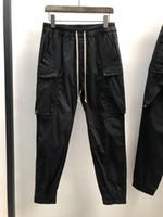 novo estilo macacão masculino venda por atacado-Melhor qualidade 2019SS NOVO HOT HOMENS RO DARK STYLE oversize Shell calças macacões haréns 2019-5-6