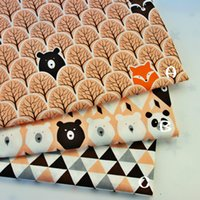 Wholesale white bedding for sale for sale - Group buy Hot sale Forest Bear Cartoon Kids Cotton Twill Fabric for Patchwork Quilting Baby Bedding Sewing Cloth Material