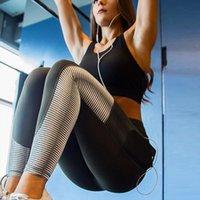 seksi fitness giyim toptan satış-Yüksek kalite Kadınlar Fitness Spor Tayt Spor Giyim Bayanlar Egzersiz Seti Yüksek Kalite Seksi Şekillendirme Kalça Hızlı Kuru Spor Yoga Pantolon