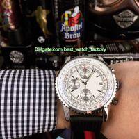 yüksek kaliteli deri saat bantları toptan satış-4 Stil Sıcak Satış Yüksek Kalite saatı 43mm Navitimer AB012012.BB0 Deri Gruplar VK Kuvars Chronograph Workin Erkek İzle Saatler