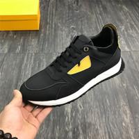 neue schuhe für männer großhandel-New Men's Sneakers Schwarze und gelbe Luxus-Designer-Lederschuhe mit Schnürung Mehrfarbige Lederschuhe mit Box