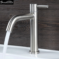 Wholesale stainless nickel for sale - Group buy SUS304 Stainless Steel Nickel Various Styles Rotatable Basin Faucet Single Cold Water Single Handle Bathroom Tap