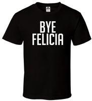rosa camisetas crossfit venda por atacado-Adeus Felicia-T-Shirt Preta Crossfit Workout Gym Hip Hop sexta-feira Todos Os Tamanhos S-2XL terno chapéu rosa t-shirt