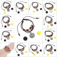 Wholesale bracelet y for sale - Group buy Free DHL Perfume Diffuser Bracelet Fashion Lava Stone Essential Oil Diffuser Locket Jewelry Cage Pendant For Women Gilrs Adjustable B385Q Y