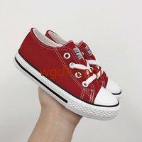 ingrosso scarpe bambino rosso plaid-2019 Scarpine Baby Boy Girl Red Wild Low High Style Canvas Bambini Scarpe sportive Sneakers per bambini Scarpe moda casual per bambini
