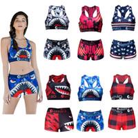 Free shipping Ethika Women Swimwear Beachwear -shaped Swimsuit Swim Shorts Plaid Swimming Suit Shark Camouflage Camo Swim Suits Bikini Set