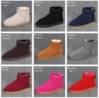 winter-stil schuhe frauen großhandel-Designer klassischen australischen Stil Schneeschuhe Frauen zurück Winter Pelz Leder Stiefeletten Luxus Schuhe Marke IVG Plus Größe EU34-44