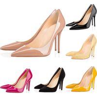 chaussures en caoutchouc à talons hauts achat en gros de-Sneaker Designer Chaussures So Kate Styles Chaussures à Talons Hauts Bas Rouge luxe noir Nude 10CM Cuir Véritable Point Toe Pumps Taille 35-42