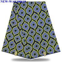 ingrosso tessuto africano cera holland-Tessuto Ankara Fashionable Print 100% cotone Hollandais Wax Fabric 6 yards Alta qualità African Holland XVS-17