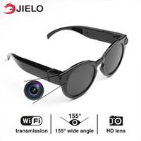 video sonnenbrille großhandel-4K digitale Sportkamera Intelligente Brille WiFi-Kamera HD Brille DVR Videorecorder 1080P Schnappschuss-Kamera Sun Riding Glasses Großhandel